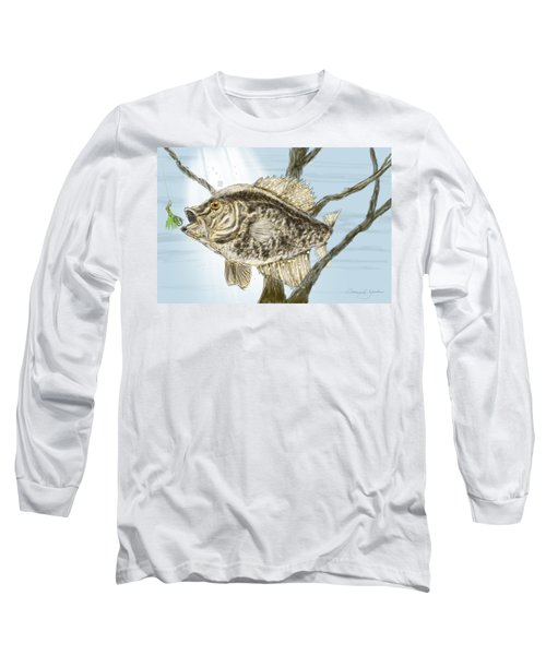 Crappie Time - 2 Long Sleeve T-Shirt by Barry Jones