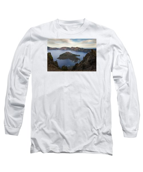 Crater Lake At Sunset Long Sleeve T-Shirt