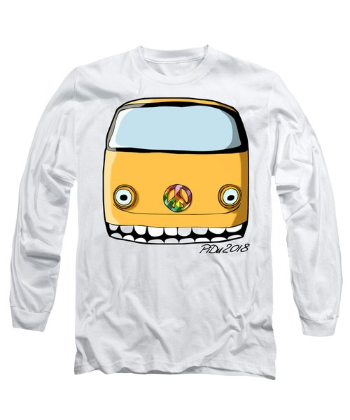 Crazy Retro Van Long Sleeve T-Shirt