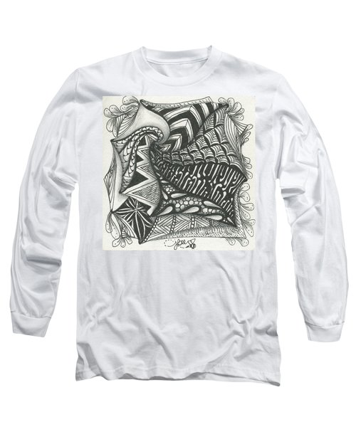Crazy Spiral Long Sleeve T-Shirt by Jan Steinle