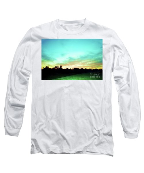 Creator's Sky Painting Long Sleeve T-Shirt by Polly Peacock