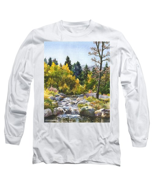 Creek At Caribou Long Sleeve T-Shirt by Anne Gifford