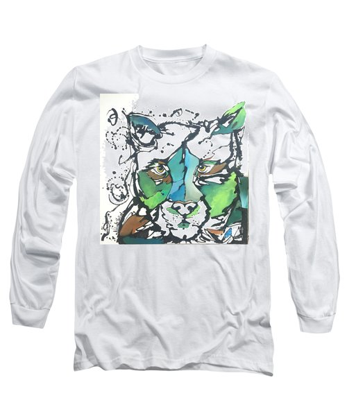 Long Sleeve T-Shirt featuring the painting Creep by Nicole Gaitan