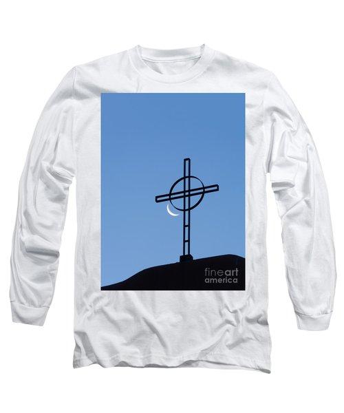 Crescent Moon And Cross Long Sleeve T-Shirt