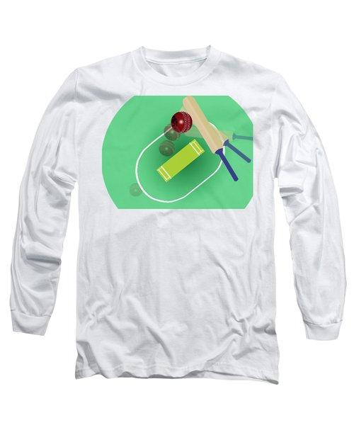 Cricket Long Sleeve T-Shirt by Smita Kadam