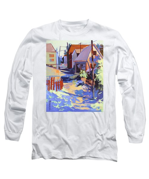 Long Sleeve T-Shirt featuring the painting Crisscross by Rae Andrews