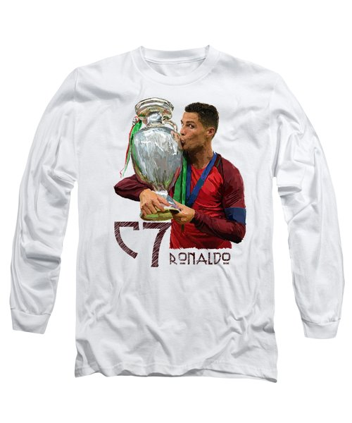 Cristiano Ronaldo Long Sleeve T-Shirt by Armaan Sandhu