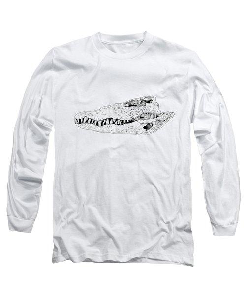 Crocodile Skull Long Sleeve T-Shirt