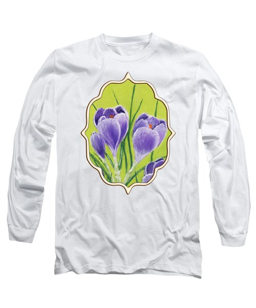 Crocus Long Sleeve T-Shirt by Anastasiya Malakhova