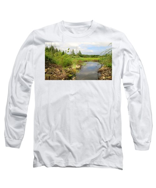 Long Sleeve T-Shirt featuring the photograph Crooked Creek Preserve by Kimberly Mackowski