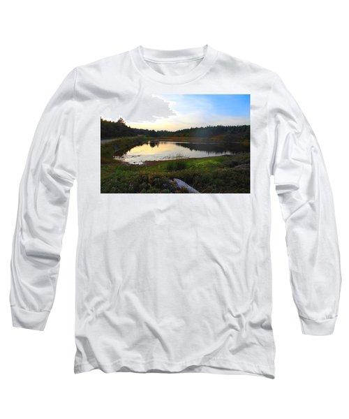 Long Sleeve T-Shirt featuring the photograph Crooked Lake Road by Jason Lees