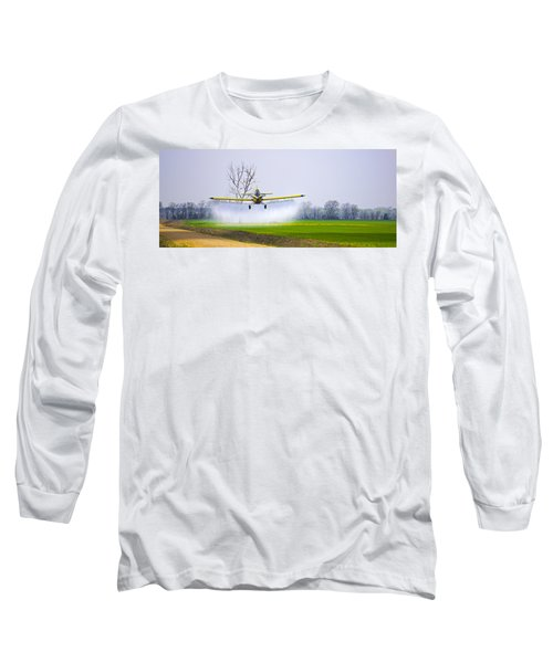 Precision Flying - Crop Dusting 1 Of 2 Long Sleeve T-Shirt by Charlie Brock