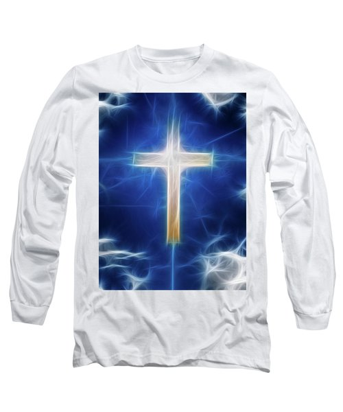 Long Sleeve T-Shirt featuring the digital art Cross Abstract by Bruce Rolff