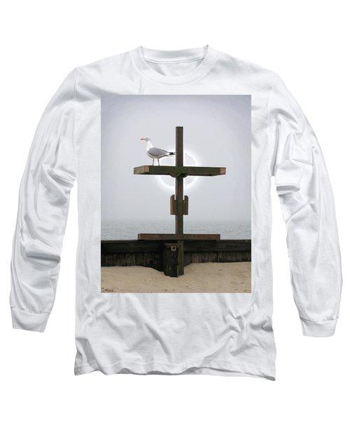 Cross At West Dennis Beach Long Sleeve T-Shirt