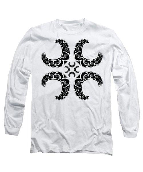 Cross Maori Style Long Sleeve T-Shirt