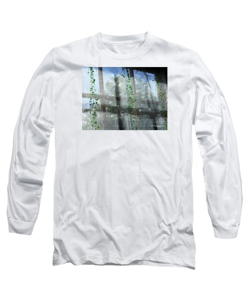 Crosses In The Window Long Sleeve T-Shirt by Cheryl Del Toro