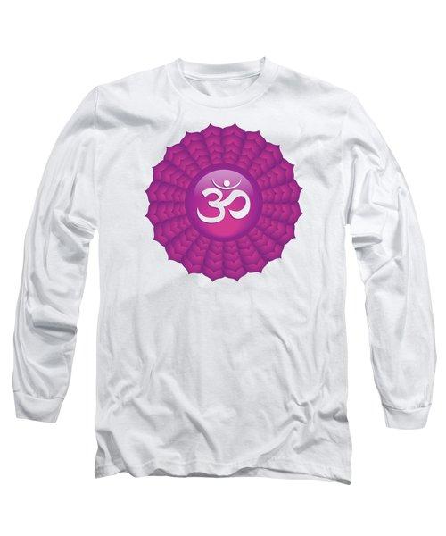 Crown Chakra Long Sleeve T-Shirt by Serena King