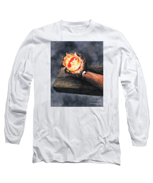 Long Sleeve T-Shirt featuring the painting Crucifixion Version One Glen Concept by Dave Luebbert