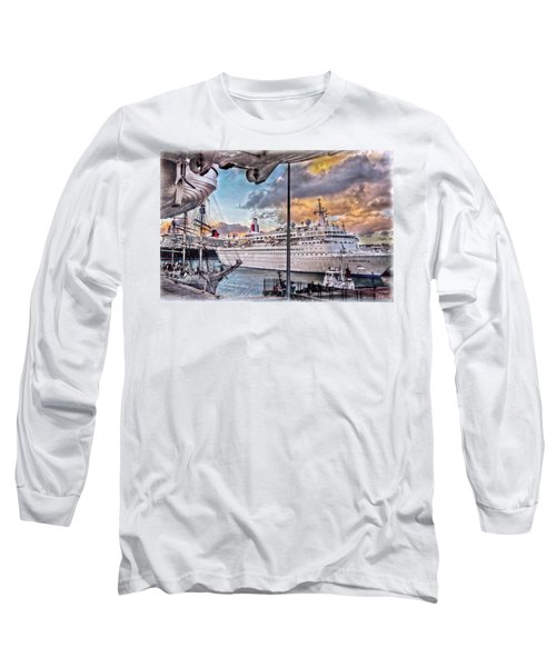 Cruise Port - Light Long Sleeve T-Shirt by Hanny Heim