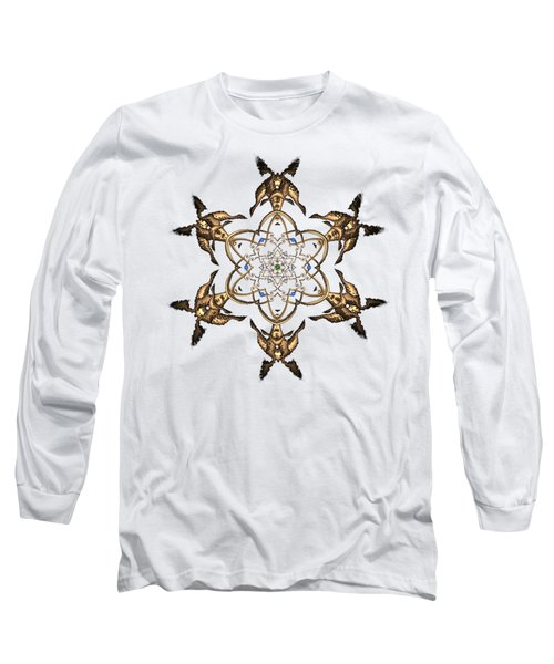 Long Sleeve T-Shirt featuring the digital art Crystal 24 by Robert Thalmeier