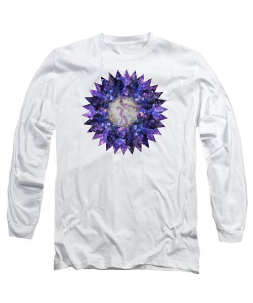 Crystal Magic Mandala Long Sleeve T-Shirt by Leanne Seymour