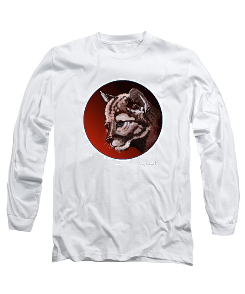 Long Sleeve T-Shirt featuring the drawing Cub by Terry Frederick