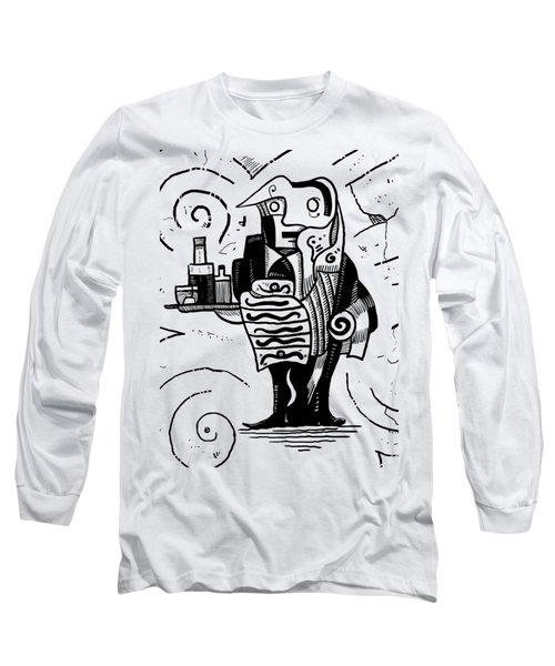 Cubist Waiter Long Sleeve T-Shirt