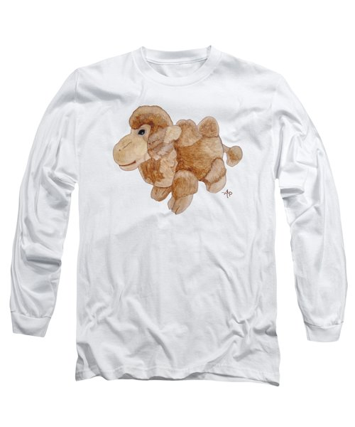 Cuddly Camel Long Sleeve T-Shirt by Angeles M Pomata