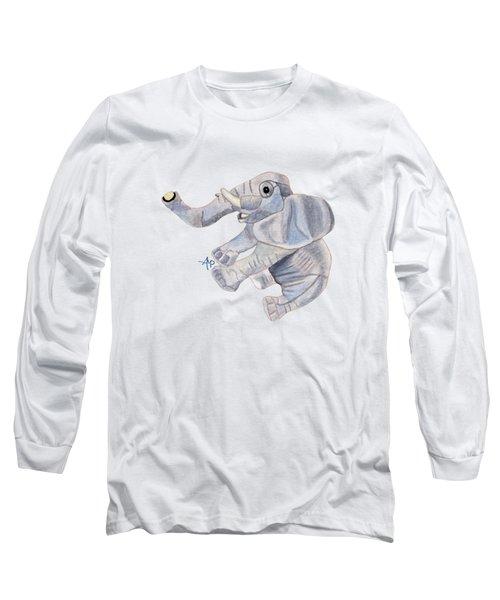 Cuddly Elephant IIi Long Sleeve T-Shirt by Angeles M Pomata
