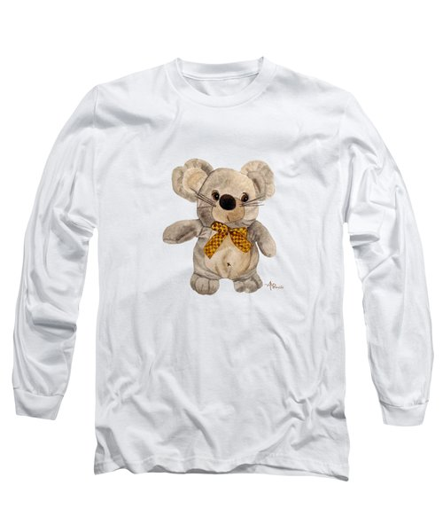 Cuddly Mouse Long Sleeve T-Shirt by Angeles M Pomata