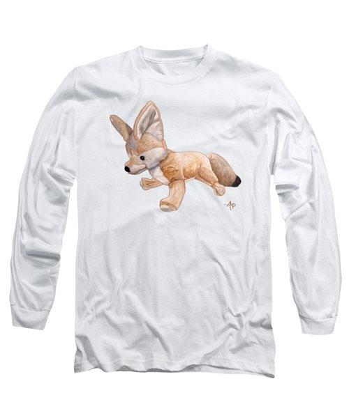Cuddly Snow Fox Long Sleeve T-Shirt