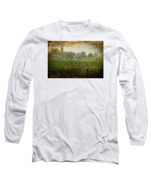 Cultivating A Chardonnay Long Sleeve T-Shirt by Jeffrey Jensen