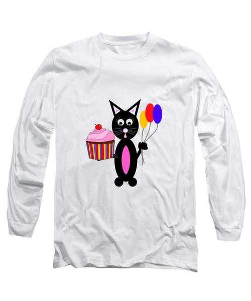 Cup Cake Party - Kids Cat Long Sleeve T-Shirt