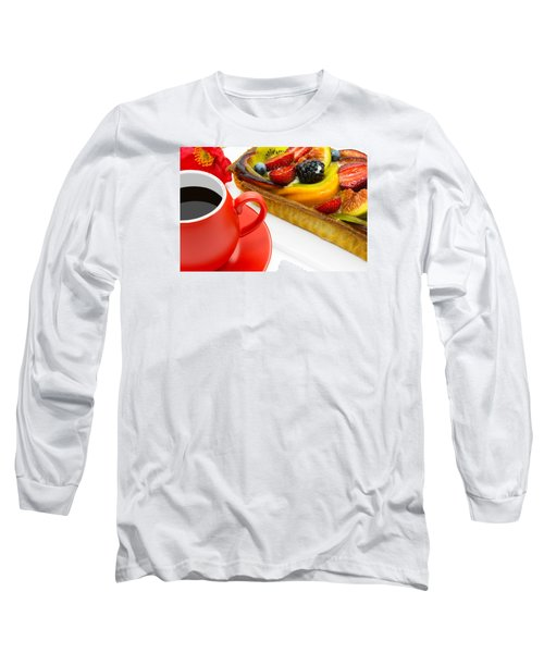 Cup Of Coffee And  Fruit Cake Long Sleeve T-Shirt