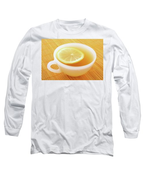Cup Of Tea With Lemon In Warm Golden Light Long Sleeve T-Shirt