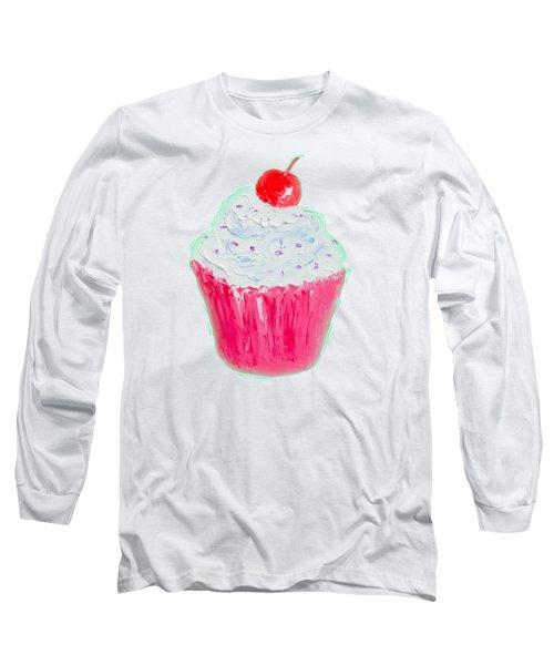 Cupcake Painting Long Sleeve T-Shirt by Jan Matson