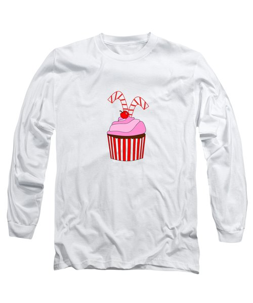 Cupcakes And Candy Canes - Christmas Long Sleeve T-Shirt