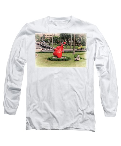 Long Sleeve T-Shirt featuring the photograph Cupid's Heart  by Mary Machare