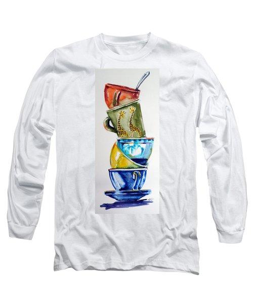 Cups Long Sleeve T-Shirt by Kovacs Anna Brigitta