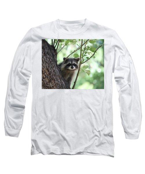 Long Sleeve T-Shirt featuring the photograph Curious But Cautious by Doris Potter