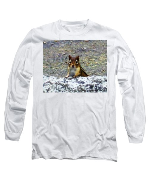 Curious Chipmunk Long Sleeve T-Shirt