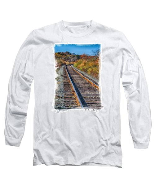 Long Sleeve T-Shirt featuring the photograph Curved Track by Constantine Gregory