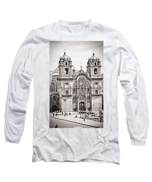 Cusco Cathedral Long Sleeve T-Shirt by Darcy Michaelchuk