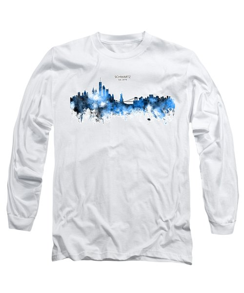 Custom New York Skyline Long Sleeve T-Shirt