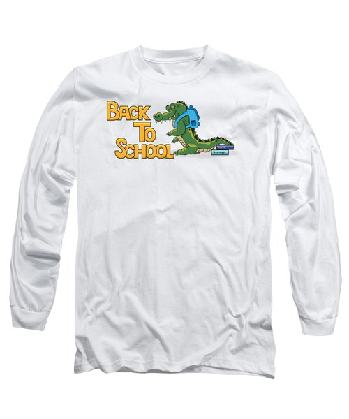 Cute Crocodile With Briefcase Long Sleeve T-Shirt