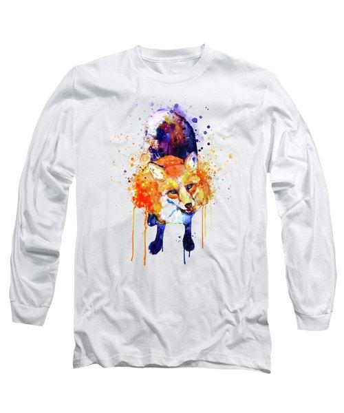 Cute Happy Fox Long Sleeve T-Shirt
