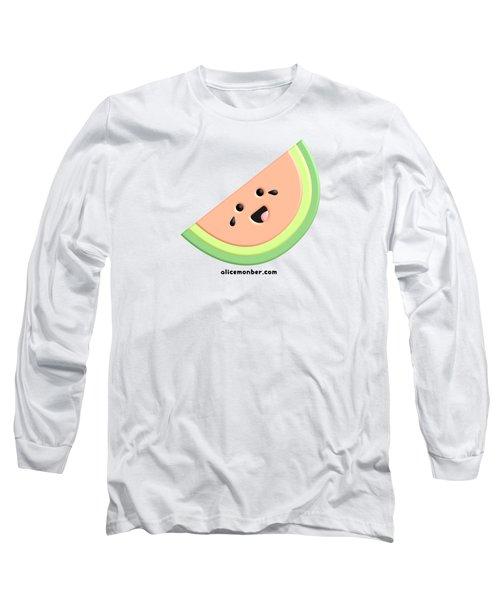 Cute Happy Watermelon  Long Sleeve T-Shirt