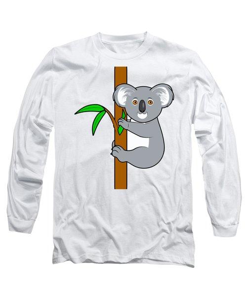 Koala With Eucalyptus Snack Long Sleeve T-Shirt by A