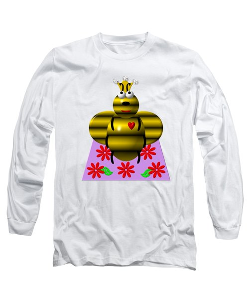 Cute Queen Bee On A Quilt Long Sleeve T-Shirt