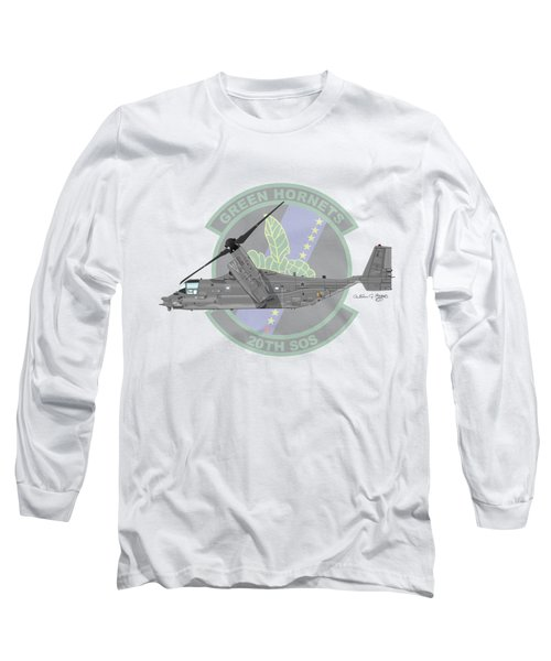 Cv-22b Osprey 20sos Long Sleeve T-Shirt by Arthur Eggers